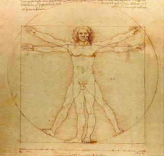 L'homme de Vitruve, dessin de Léonard de Vinci