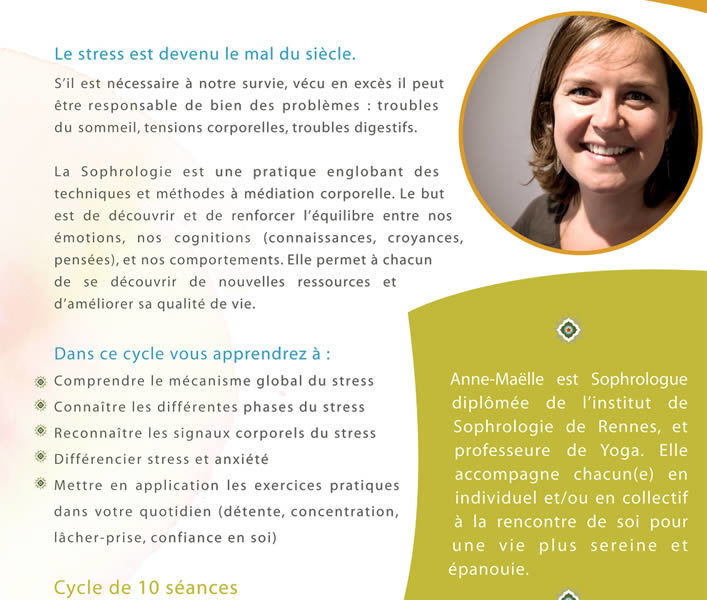 Cycle de sophrologie / Stress