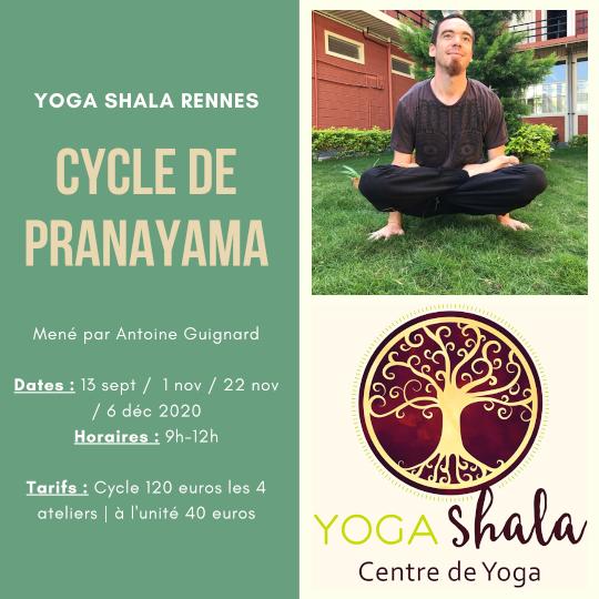 CYCLE de PRANAYAMA, mené par Antoine Guignard.